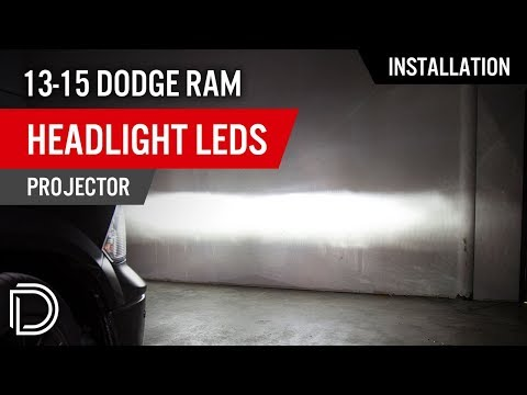 How to Install 2013-2015 Dodge Ram Headlight LEDs (Projector) | Diode Dynamics Dodge Ram Xenon Headlights