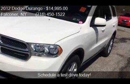 2012 Dodge Durango SXT AWD 4dr SUV for sale in Falconer, NY Fort Lauderdale Florida 2018