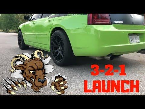Launching Supercharged Dodge Charger Daytona Hellcat Replica Wheels 305 Mickey Thompson Drag Radials 2019