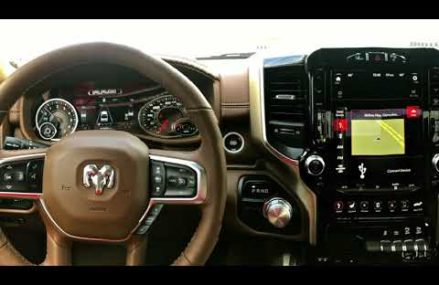 12 Inch Uconnect Touchscreen on the 2019 RAM 1500 in City 57276 White SD