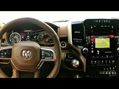 12 Inch Uconnect Touchscreen on the 2019 RAM 1500 Dodge Ram Uconnect