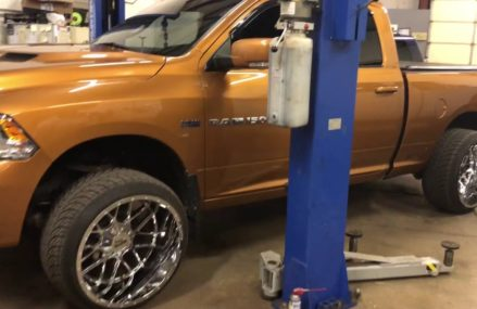 We just installed a leveling kit on this Ram and some new 24×14 Moto Metal wheels with Atturo tires in 20540 Washington DC