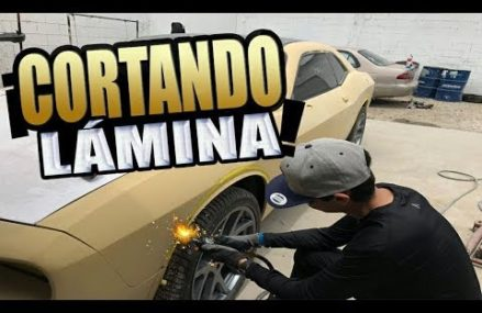 Cortando Lámina! Install Wide Body Kit Cantoneras Dodge Challenger From Marco Island 34146 FL