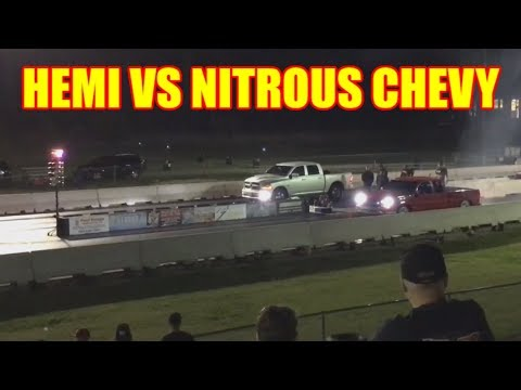 MODIFIED RAM 1500 AT 1/8th MILE DRAG STRIP - 5.7L HEMI Dodge Ram Hemi