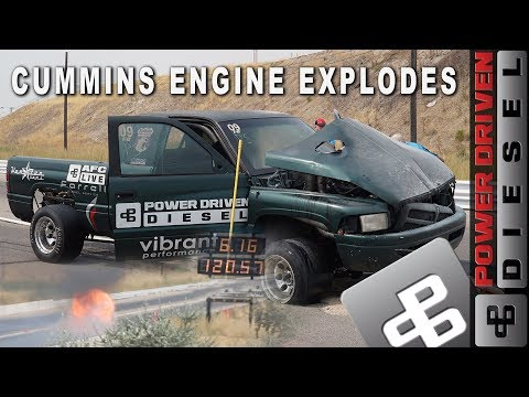 Cummins Race Engine Explodes into a Ball of Flames | Power Driven Diesel Dodge Ram Cummins
