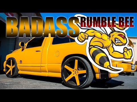 RUMBLE BEE DORADA   RE-UPLOAD  UNA DE LAS MEJORES QUE EH VISTO   RAMBOX DESIGN Dodge Ram Rumble Bee