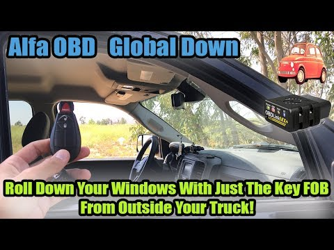 AlfaOBD How To Roll Down Your Windows From The Key Fob: Global Down Dodge Ram Key Fob