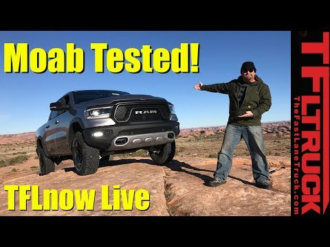 First in Moab in the New 2019 Ram Rebel! TFLnow (Almost) Live Show #14 Dodge Ram Rebel