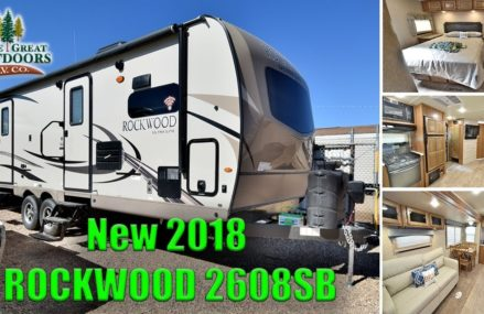 New 2018 ROCKWOOD 2608SB Ultra Lite Front Kitchen Travel Trailer RV Camper Colorado Sales Dealer From Mansfield 38236 TN