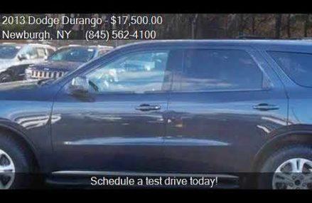 2013 Dodge Durango SXT AWD 4dr SUV for sale in Newburgh, NY Aurora Illinois 2018