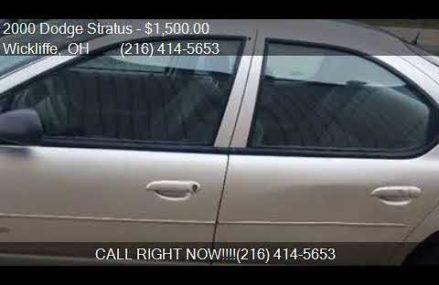 2000 Dodge Stratus Es – Washington 20015 DC
