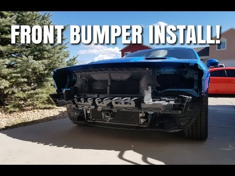 How to install a 2015 and up Challenger front bumper 2021