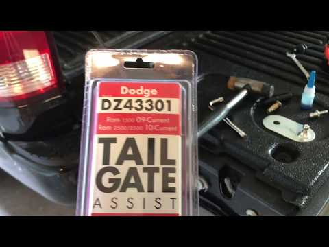 DZ43301 Tailgate Assist Step By Step Instructions Dodge Ram 1500, 2500 & 3500 '09-Current Dodge Ram Tailgate
