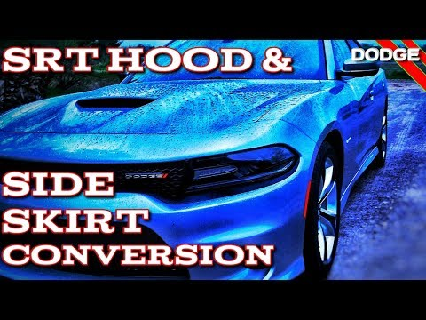 Dodge Charger Hood and Side Skirts Conversion to SRT Hood and Side Skirts. 2019