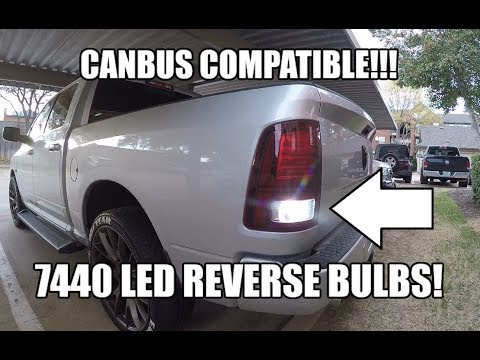 LED Reverse Backup Bulbs CANBUS COMPATIBLE bulb type 7440 - DODGE RAM 1500 2500 3500 Dodge Ram Interior Lights