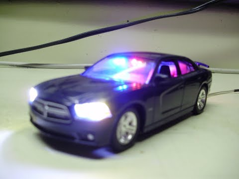 Damien's custom 1:43 Dodge Charger unmarked slicktop diecast model with working lights 2019