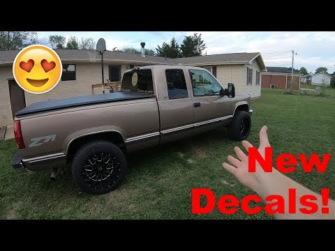 Truck Pull and New Decals on the K1500! Vlog 83 Dodge Ram Decals