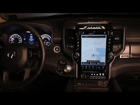 Navigating the 2019 Ram 1500 Uconnect 12-inch touchscreen display Dodge Ram Navigation System