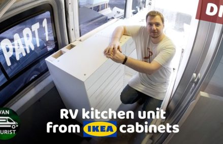 RV kitchen build from IKEA cabinets. Diy campervan kitchen unit for simple van conversion – part 1 From Manitowoc 54220 WI