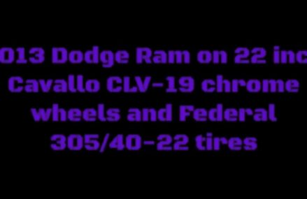 2013 Dodge Ram on 22 inch Cavallo CLV-19 chrome wheels and Federal 305/40-22 tires in 20571 Washington DC