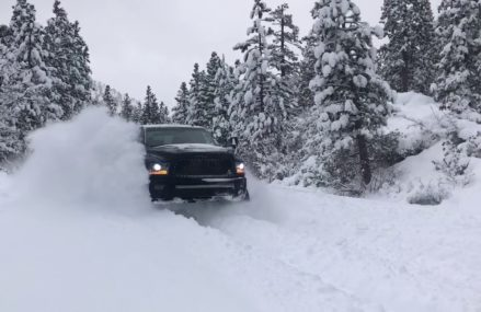 Lifted Dodge Ram 2500 37s deep snow in 75158 Scurry TX