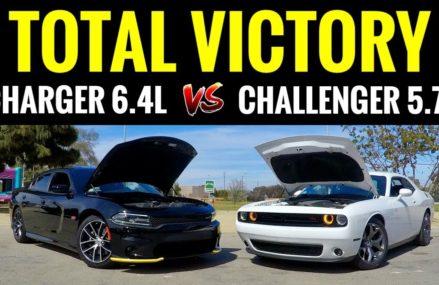 Dodge Charger SCAT PACK 6.4L vs Challenger RT 5.7L | STREET RACE! in 30308 Atlanta GA
