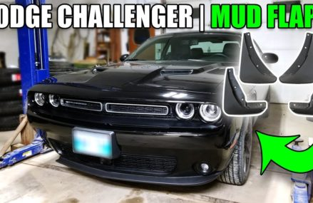 How to install Mud Flaps on a Dodge Challenger at Mancelona 49659 MI