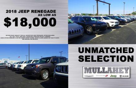 Mullahey Chrysler Dodge Jeep Ram – Fair Deals in 47393 Williamsburg IN