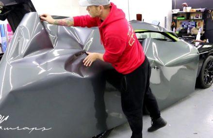 UP CLOSE VIDEO (POV) Dodge 392 Challenger Vinyl Wrap. How To Vinyl Wrap a Door in Las Vegas 89183 NV