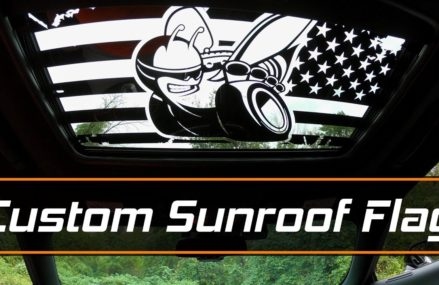 Sunroof Flag Decal Install – Scat Pack Bee from Luxe Auto Concepts Now at 19310 Atglen PA