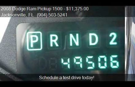2008 Dodge Ram Pickup 1500 ST for sale in Jacksonville, FL 3 Locally At 20393 Washington DC