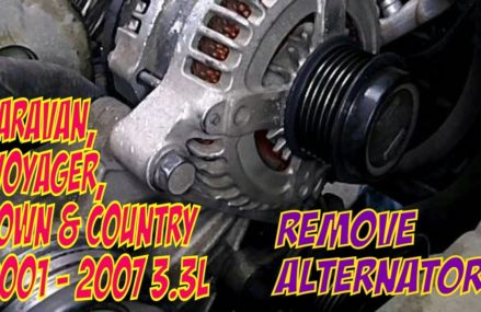 Remove Alternator Dodge Caravan, Town and Country, Voyager 3.3L From Milltown 8850 NJ