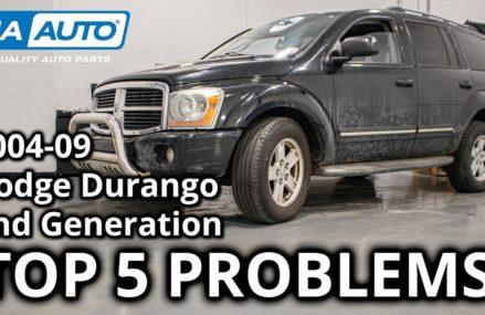 Top 5 Problems Dodge Durango SUV 2nd Generation 2004-09 Detroit Michigan 2018