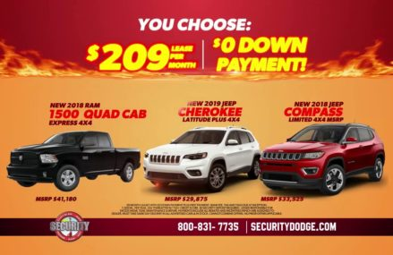 Security Dodge Summer Sizzling $0 Down Lease Deals! Call (800) 831-7735 Local 14894 Wellsburg NY