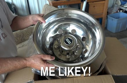RV Renovation and Remodel – New Chrome Dually Wheel Covers Around Streets in 6722 Waterbury CT