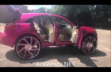 AceWhips.NET- Musa's Candy Pink Infiniti FX35 on 32's Forgiatos Around Zip 12229 Albany NY