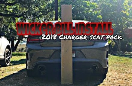 ZL1 Addons Wicker bill spoiler install // 2018 Charger scat pack Now at 93305 Bakersfield CA