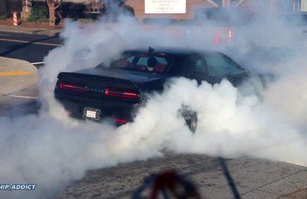 WhipAddict: First 2019 Dodge Challenger Hellcat Redeye in Atlanta! Street Burnout at Little Rock 72204 AR