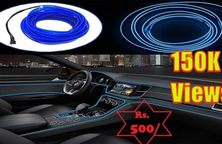 How to install EL Wire in Car    Car Dashboard Light For 21014 Bel Air MD