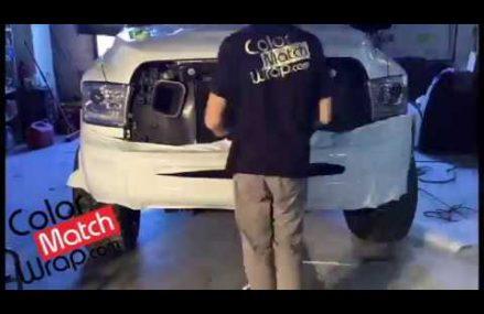 Body Paint Color Match Vinyl Car Wrap – Bumper Trim Chrome Delete Around Streets in 26060 Valley Grove WV