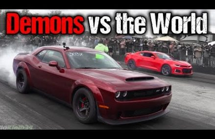 Dodge Demon Takes on EVERYTHING! Camaro ZL1, GT350, Corvettes, Much More! Local Lucerne Valley 92356 CA