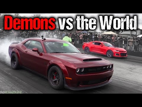 Dodge Demon Takes on EVERYTHING! Camaro ZL1, GT350, Corvettes, Much More! 2021