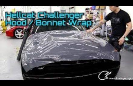 How To Vinyl Wrap A Hood / Bonnet   Dodge HELLCAT Challenger For Lynnwood 98037 WA