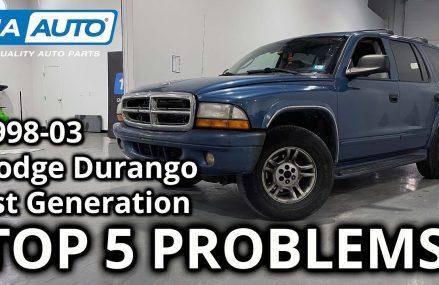 Top 5 Problems Dodge Durango SUV 1st Generation 1998-2003 Pembroke Pines Florida 2018