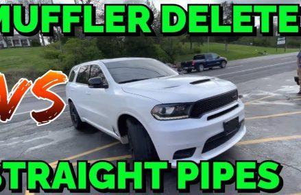 Dodge Durango R/T 5.7L HEMI: MUFFLER DELETE Vs STRAIGHT PIPES! Richmond Virginia 2018