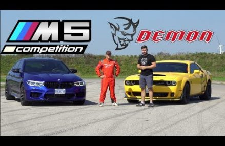 2019 BMW M5 Competition vs. Dodge Demon TRACK TEST // Drag Race, Drifting, Lap Times Near Malden 61337 IL