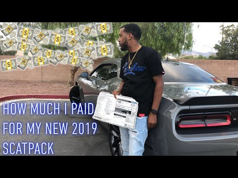 How Much Did I Pay For My 2019 Dodge Challenger Scatpack PLUS**MUST WATCH** 2019