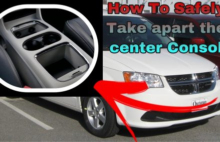 How To Take apart 2019 Dodge Caravan Center Console ( Without breaking) at Miami 33184 FL
