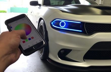 15-18 Dodge Charger 392 w/ Multicolor RGBWA DRL & Halos w/ Bluetooth Controller Now at 12910 Altona NY