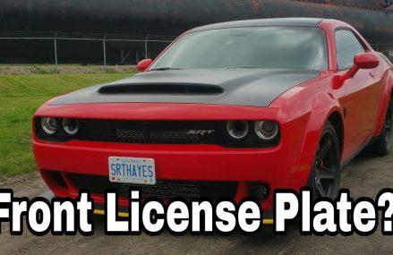 Dodge Demon Got A Front License Plate From 8400 Atlantic City NJ